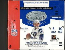 1-2005 Leaf Certified Materials NFL Football Hobby Box Aaron Rodgers R/c