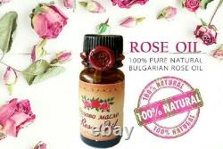 100% PURE essential Bulgarian ROSE OIL otto 5ml CERTIFIED Rose of Damask