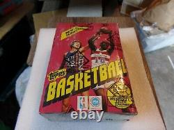 1981-82 Topps Basketball Unopened Wax Box. BBCE Certified