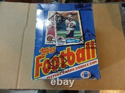 1982 Topps Football Unopened Wax Box BBCE Certified Lott, Taylor RC