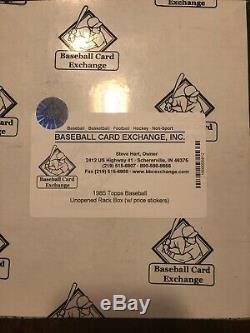 1985 Topps Baseball Rack Box Certified BBCE Authenticated 24 Factory Sealed Pack