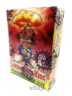1986 Garbage Pail Kids 4th Series 48 Packs Sealed BBCE Certified Box 25 Cent Ver