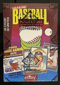 1986 Leaf Donruss Unopened Wax Pack Box BBCE Certified FASC SEALED