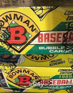 1989 Bowman Baseball Card Wax Box Lot 3 Boxes All BBCE Certified (FASC)