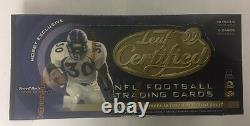 1999 Leaf Certified Materials Football Hobby Box Factory Sealed