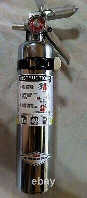 2 1/2 lb. (AMEREX) CHROME BC FIRE EXTINGUISHER NEW (2020) CERTIFIED IN BOX