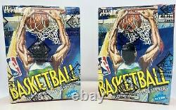 2 1989-90 FLEER NBA Basketball Wax Pack Boxes Sealed BBCE CERTIFIED