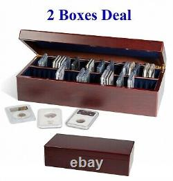 2 Boxes For Certified Graded Coin Slabs Each Hold 50 PCGS / NGC / ICG Holders