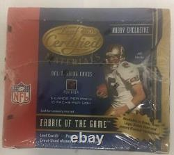 2003 Leaf Certified Materials Football Factory Sealed Hobby Box