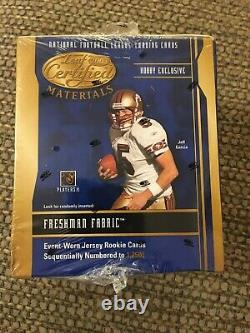 2003 Leaf Certified Materials Football Sealed Hobby Box 10 Packs