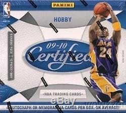 2009/10 Panini Certified NBA Factory Sealed 10 Pack HOBBY Box-4 AUTOGRAPH/MEM