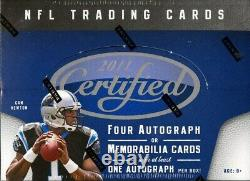2011 Panini Certified Football Hobby Box Blowout Cards