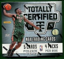 2014-15 Totally Certified Factory Sealed Hobby Box RC Joel Embiid Wiggins Auto