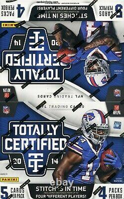 2014 Panini Totally Certified Football New And Factory Sealed Hobby Box 4 Hits