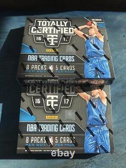 2016-17 Panini Totally Certified Basketball Hobby Box Lot (2) Sealed Wax RC Auto