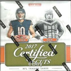 2017 Certified Cuts Factory Sealed Football Hobby Box Pat Mahomes AUTO RC