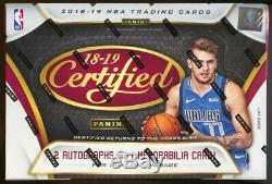 2018/19 Panini Certified Basketball Hobby Box Luka Doncic Trae Young RC year