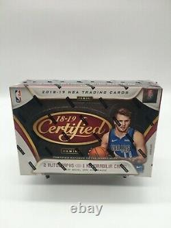 2018-19 Panini Certified SEALED Basketball Hobby Box Possible LUKA or TRAE RC