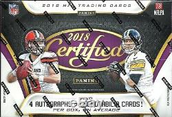 2018 Certified Factory Sealed Football Hobby Box Lamar Jackson RC
