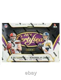 2018 Panini Certified Football Case Hobby Sealed 12 Boxes