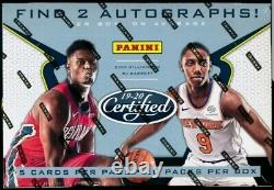 2019-20 Panini CERTIFIED Hobby Basketball Factory Sealed Box