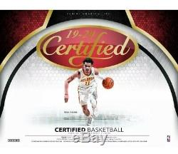 2019-20 Panini Certified Basketball Hobby Sealed Box Pre Sell! Zion Rc Auto