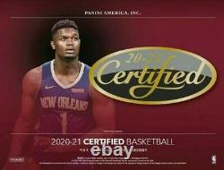 2020-21 Panini Certified Basketball Factory Sealed Hobby Box Presale Pre Sale