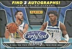 2020-21 Panini Certified Basketball Hobby Box Factory Sealed From Fresh Case