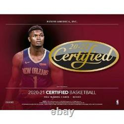 2020-21 Panini Certified Basketball Hobby Box Factory Sealed In-Hand
