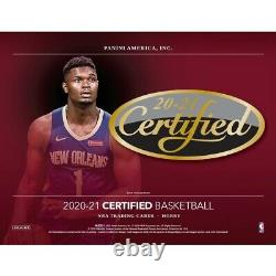 2020/21 Panini Certified Basketball Hobby Box Factory Sealed Pre-Order