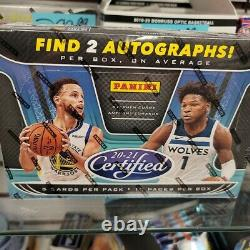 2020-21 Panini Certified Basketball Hobby Box NEW Factory Sealed