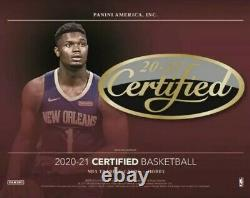 2020-21 Panini Certified Basketball Hobby Box NEW Factory Sealed 2 Autos