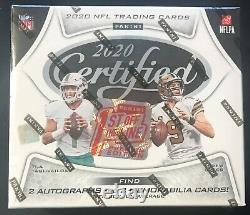 2020 Panini Certified Football 1st Off the Line FOTL Premium Edition Box