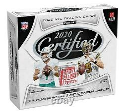 2020 Panini Certified Football Fotl Premium Edition Hobby Box