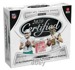 2020 Panini Certified Football Premium Edition Hobby Box 1st Off The Line