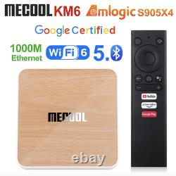 2021 New MECOOL KM6 Deluxe Google Certified Android 10 4G+32GB/64G 4K TV Box