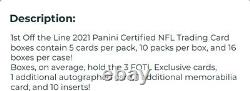 2021 Panini Certified First Off the Line Hobby Box FOTL NFL Sealed Confirmed