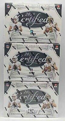 3 BOXES Lot 2020 Panini CERTIFIED Football NFL Unopened HOBBY BOX Factory Sealed