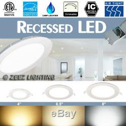 4/6.5/8 LED Recessed Ceiling Panel Down Light Bulb Lamp Fixture with Junction Box