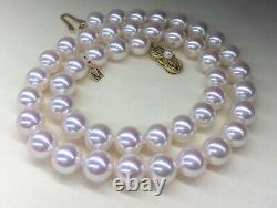 80% OFF $50K MIKIMOTO CERTIFY A+ SILVER/PINK9.5mm AKOYA PEARLS 18 NECKLACE+BOX