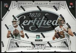 IN STOCK 2020 Panini Certified Football Factory Sealed Hobby Box 2 Autos