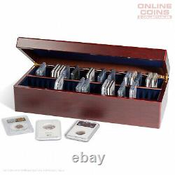 Lighthouse Timber Coin Presentation Case for 50 Certified Coin Holders or Slabs