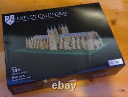 Limited Edition Lego Certified Professional Exeter Cathedral. Very Rare! #35/500