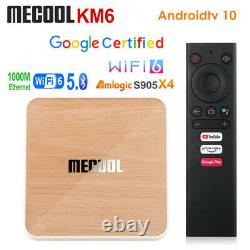 Mecool KM6 Deluxe ATV Google Certified Android 10 Amlogic S905X4 4G 64G 4K H. 265