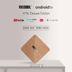 Mecool KM6 Deluxe ATV Google Certified Android 10 Amlogic S905X4 4G 64G 4K HDR