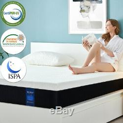 Molblly 12Inch Queen Size, Memory Foam Mattress with CerPUR-US Certified in a box