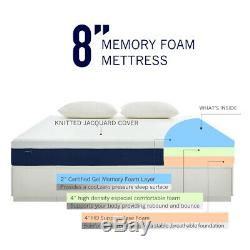 Molblly 8 Inch Queen Size, Memory Foam Mattress with CerPUR-US Certified in a box