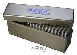 NGC Silver Box Plastic Storage Box Holds 20 NGC Certified Graded Slabs