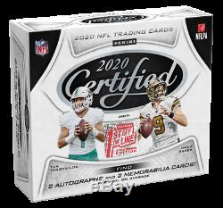New Sealed 2020 Panini Certified Fotl Football Cards Hobby Box Factory Sealed