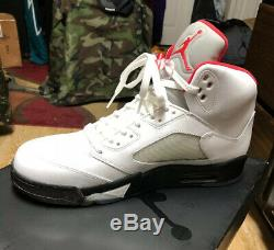 New nike air jordan v 5 retro white Mens 12 (2013) StockX Certified With Box